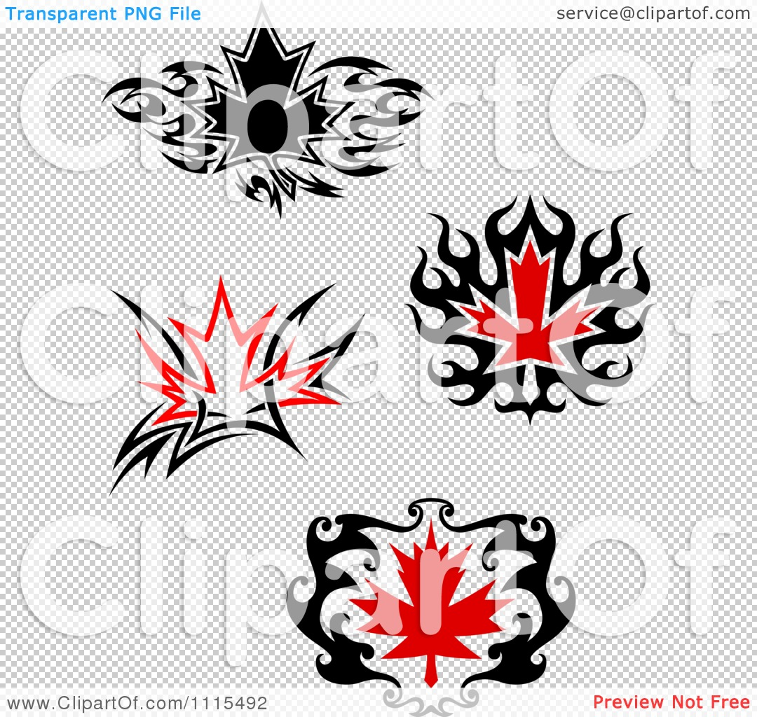 clipart black and red tribal maple leaves royalty free vector illustration by vector tradition. Black Bedroom Furniture Sets. Home Design Ideas