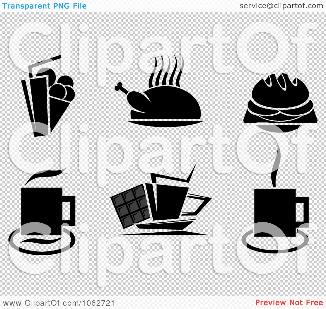 free black white food clipart images - photo #37