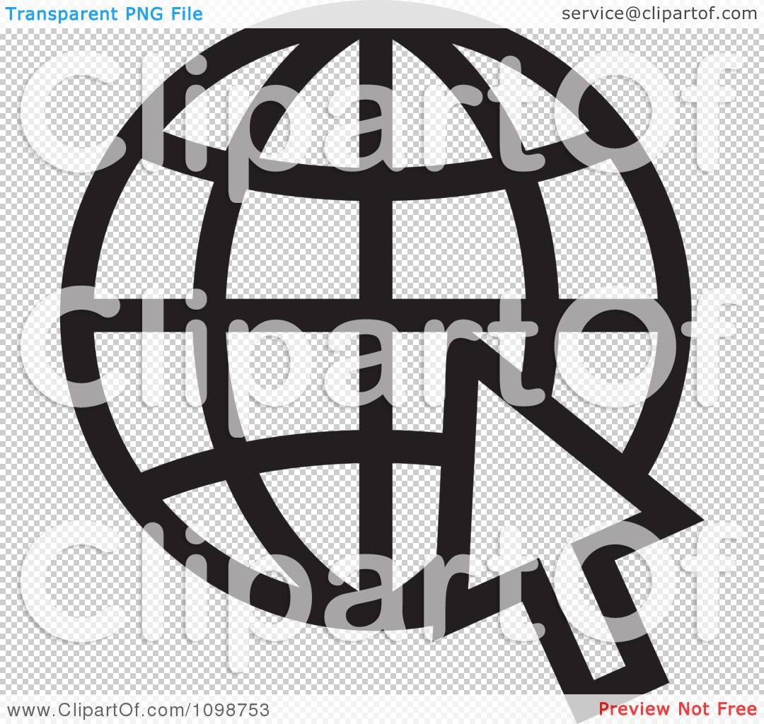 Clipart black and white grid internet globe and computer cursor png file has a transparent background biocorpaavc