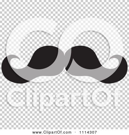 White Mustache Transparent Background