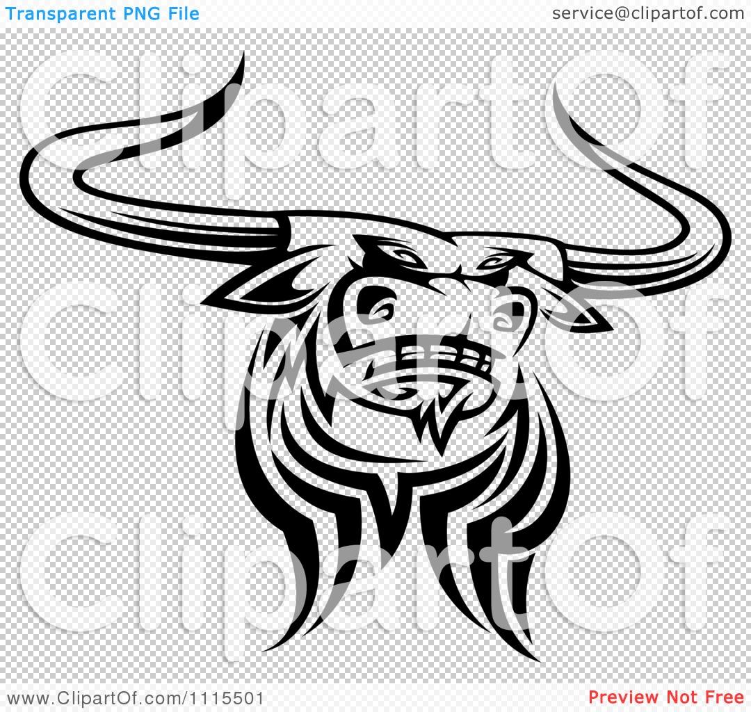 Texas Longhorn Clip Art Black and White