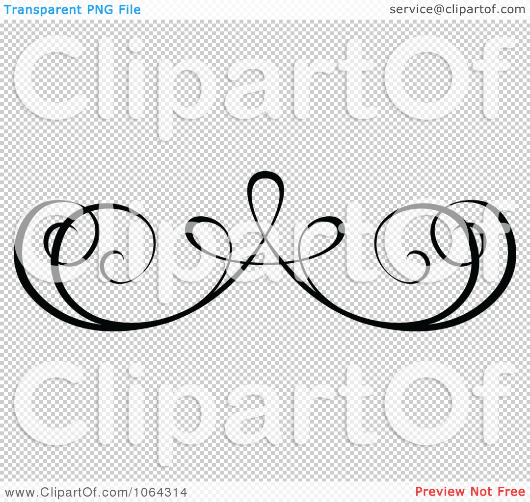 Clipart Black Swirl Rule Design Element 1