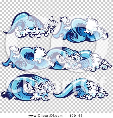 Clipart blue ocean wave borders and design elements - Blue ocean design ...
