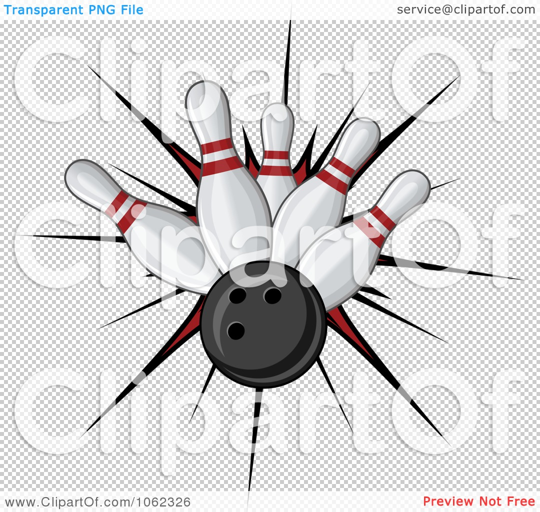 The PNG file has a Bowling Pin And Ball Clipart