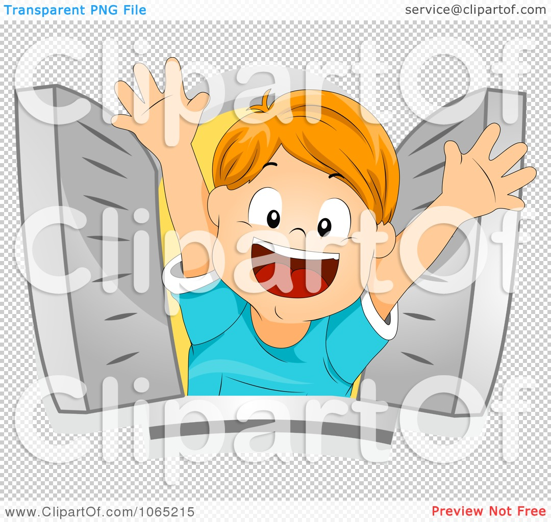 Clipart boy popping out of a window royalty free vector for Window design clipart