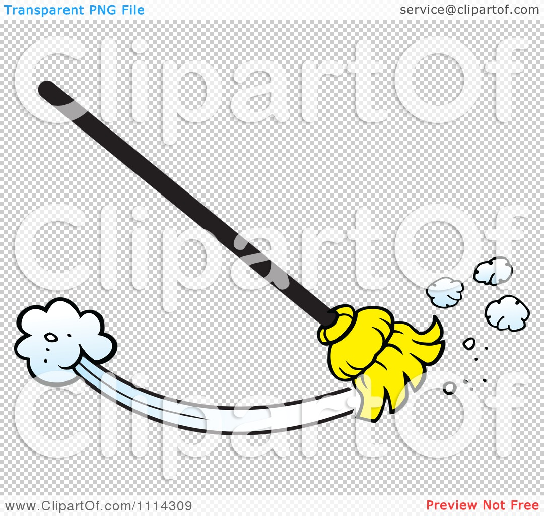 Clipart Broom Sweeping - Royalty Free Vector Illustration by ...
