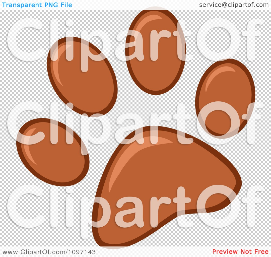 clipart brown dog paw print royalty free vector illustration by rh clipartof com Bear Paw Print Clip Art Wolf Paw Print Clip Art