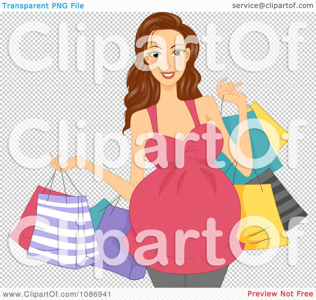 Clipart Brunette Pregnant Woman Carrying Colorful Shopping Bags Royalty Free Vector Illustration 10241086941 Read later. Modern Female