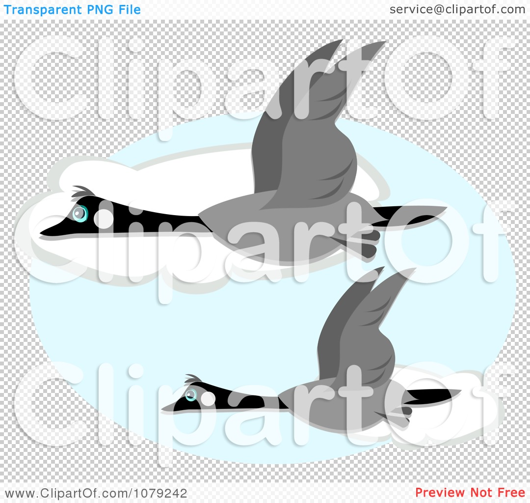 Clipart Canadian Geese Flying Against Clouds - Royalty Free Vector ...