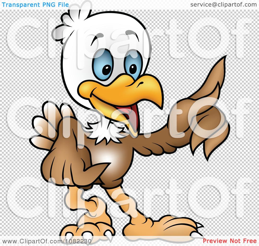 Clipart Cartoon Bald Eagle Pointing - Royalty Free Vector ...