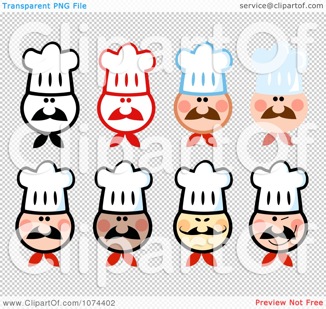 Clipart Chef Faces - Royalty Free Vector Illustration by Hit Toon ...