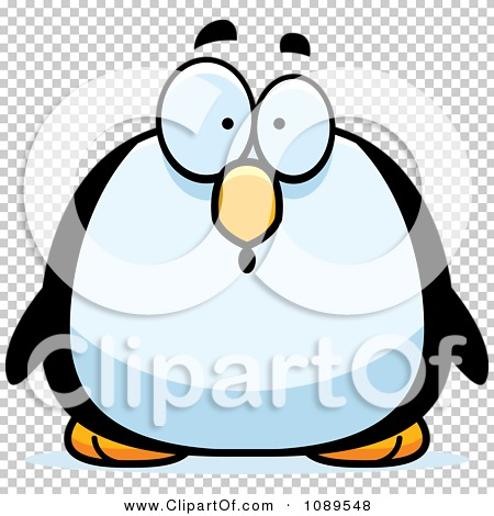 Clipart Chubby Surprised Penguin - Royalty Free Vector ...