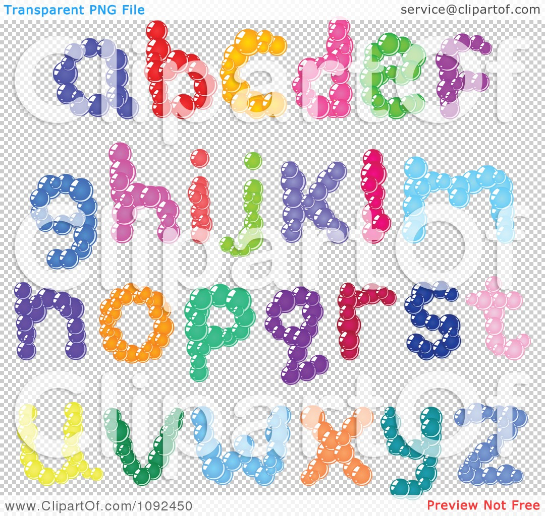 Bubble Letters Alphabet