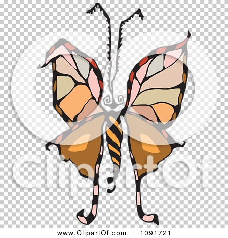 Clipart Colorful Moth Or Butterfly - Royalty Free Vector ...