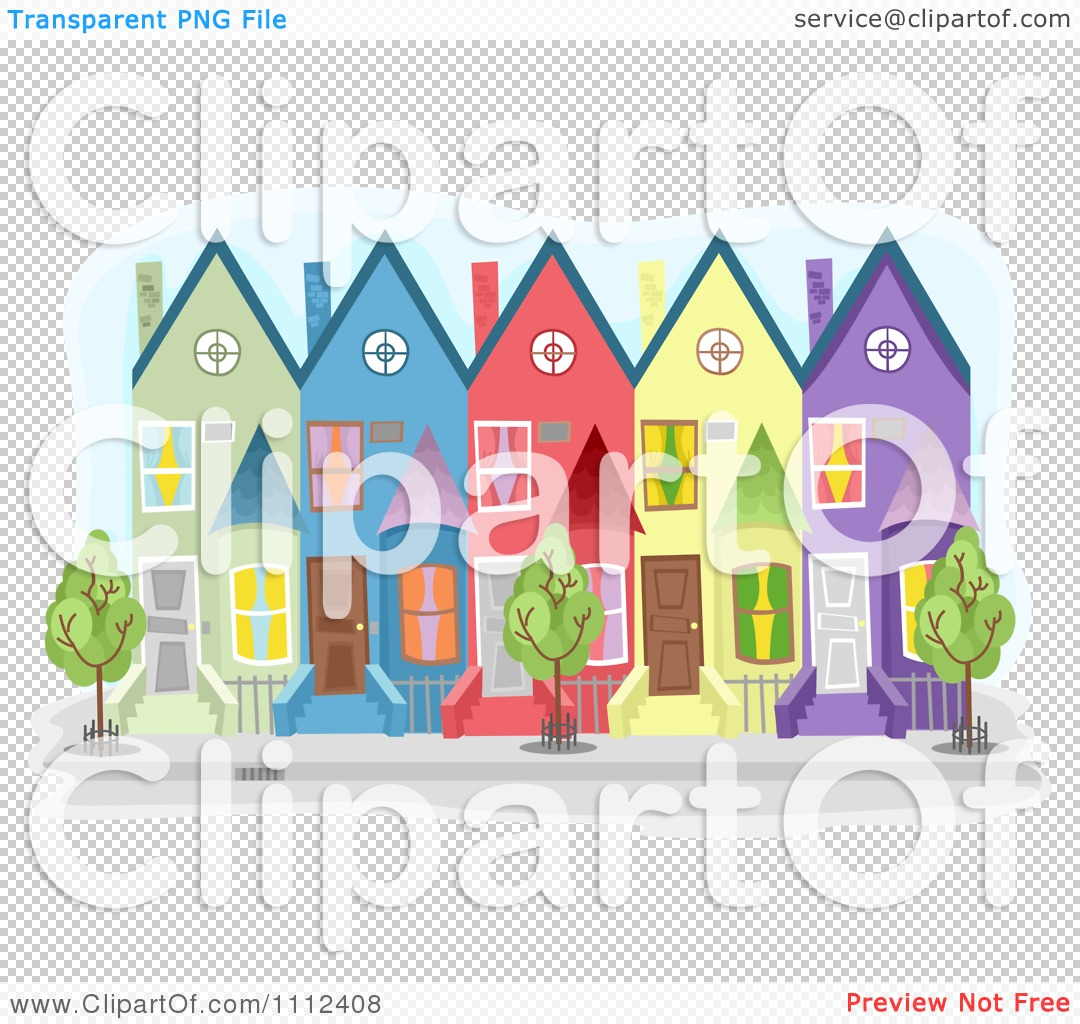Colorful Townhouse Buildings 1112408 on 16 X 20 Cottage