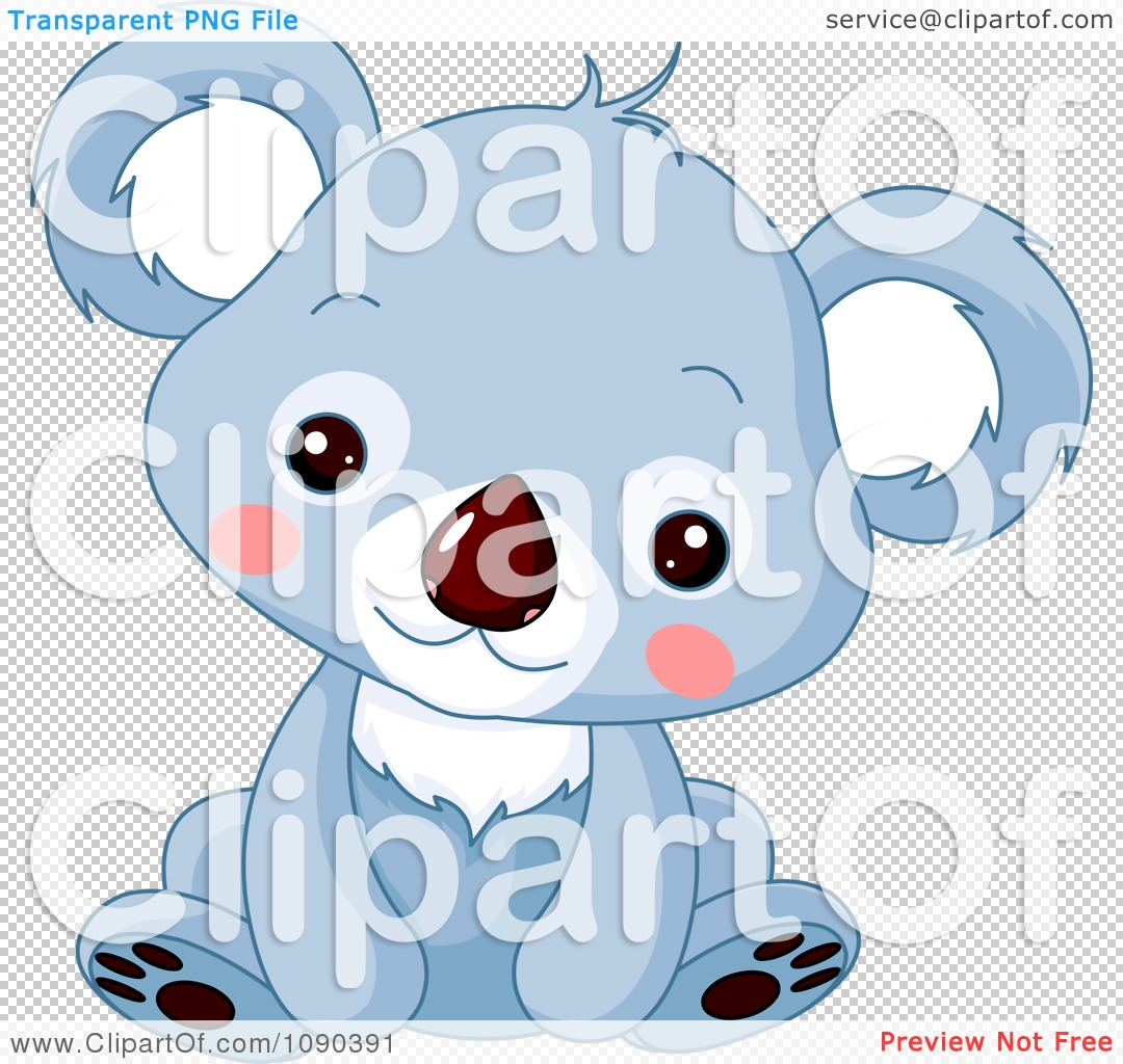 images of Clipart Cute Blue Baby Zoo Koala Sitting Royalty Free Vector