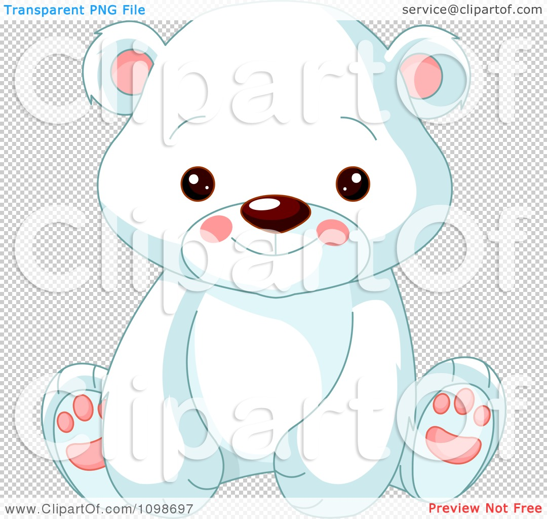 Cute cartoon polar bear cubs - photo#22