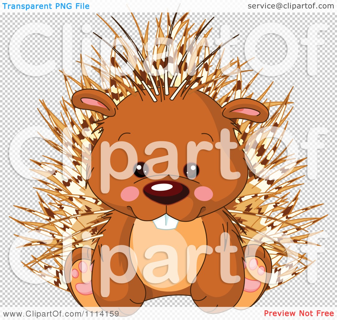Clipart Cute Sitting Porcupine - Royalty Free Vector Illustration ...