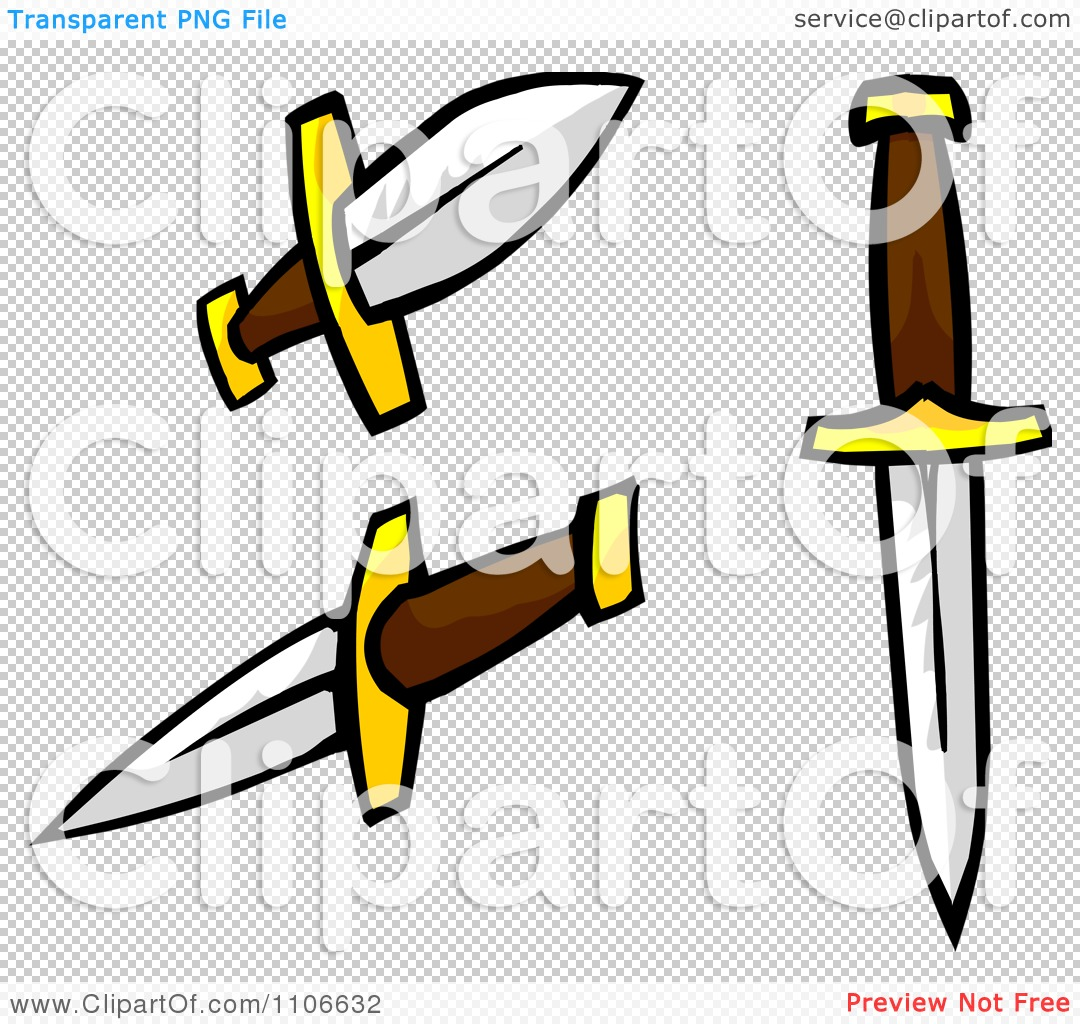 Clipart Daggers - Royalty Free Vector Illustration by ...