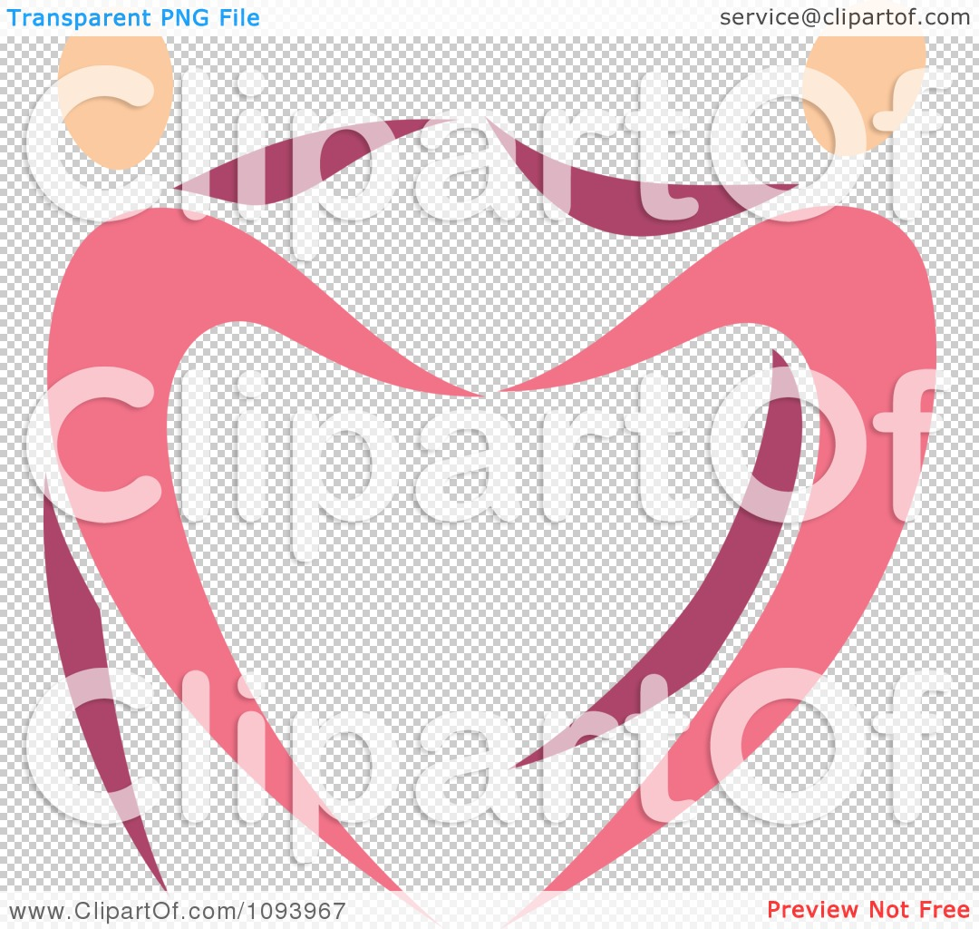 Clipart Dancing Pink Heart People 1 - Royalty Free Vector ...