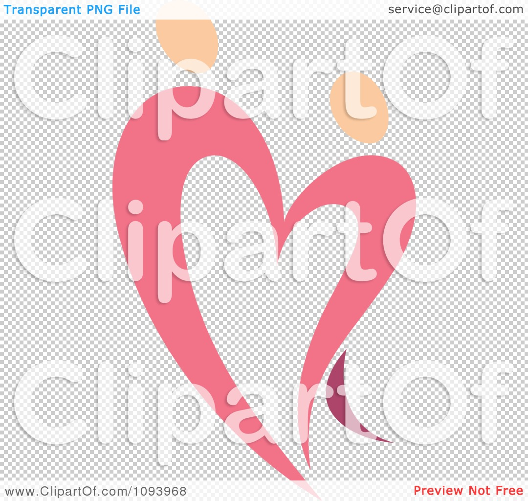 Clipart Dancing Pink Heart People 7 - Royalty Free Vector ...