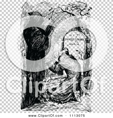 Clipart Ebenezer Scrooge Being Visited By The Ghost of Christmas Yet to Come - Royalty Free ...