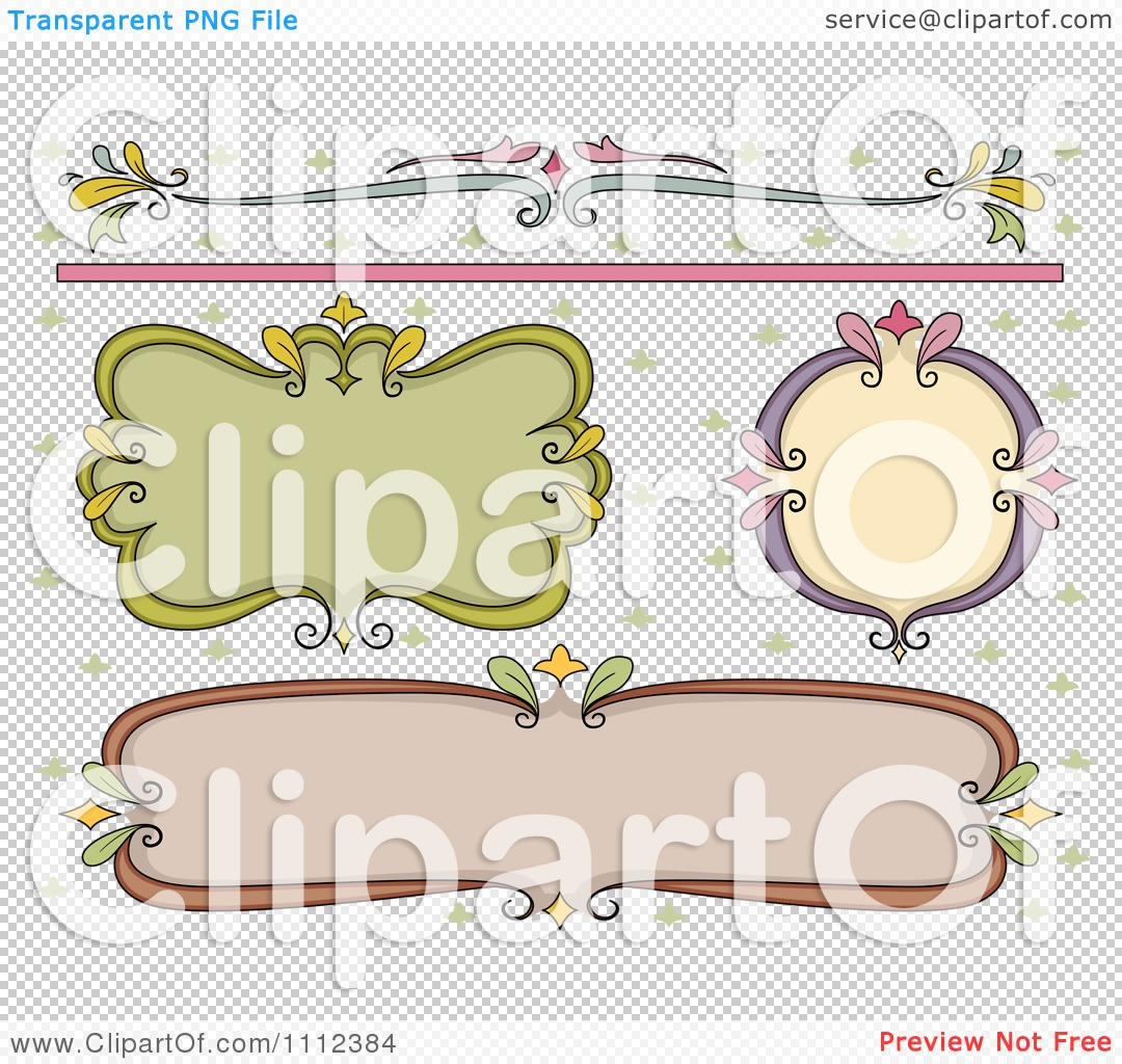 Clipart Fancy Frame Border And Design Element Royalty Free Vector