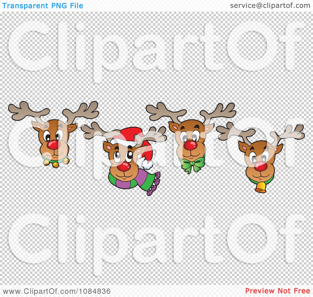 Reindeer Face Clip Art Royalty free clipart