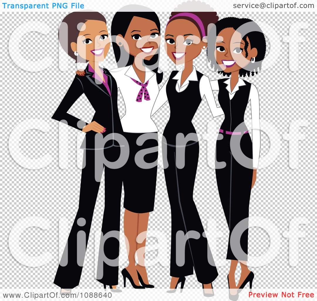 Clipart Four Professional Ladies Posing Together - Royalty Free ...