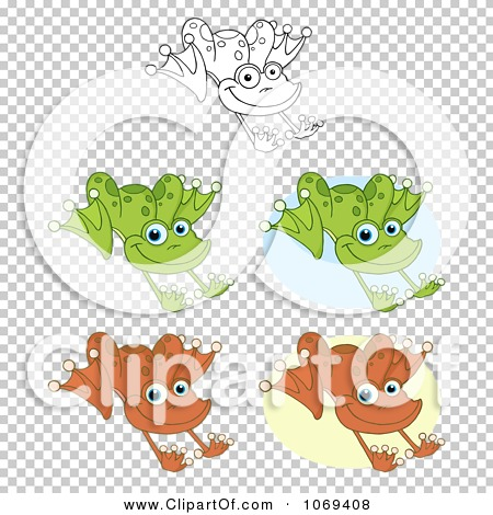 Clipart Frogs Hopping - Royalty Free Vector Illustration by Hit ...