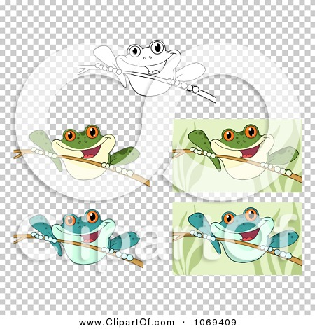 Clipart Frogs On Sticks - Royalty Free Vector Illustration by Hit ...