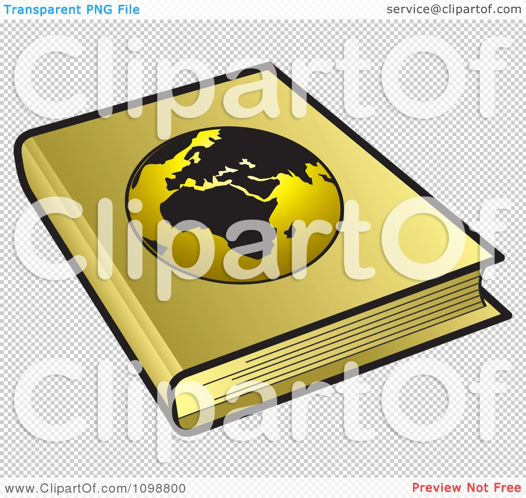 Geography School Book Cover Ideas : Clipart golden geography book with a globe cover royalty