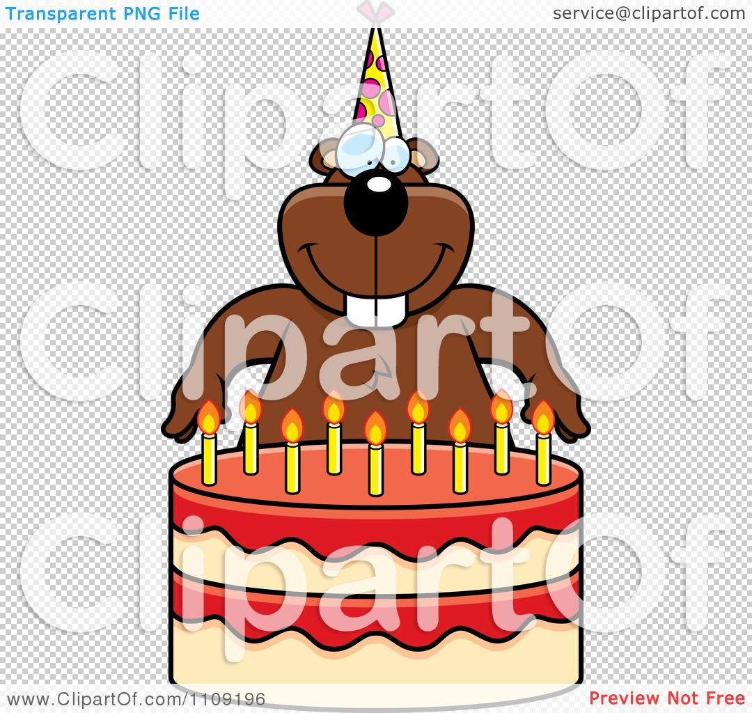 Clipart Gopher Making A Wish Over Candles On A Birthday Cake Royalty Free Vector Illustration 10241109196 birthday cake illustration vector 9 on birthday cake illustration vector