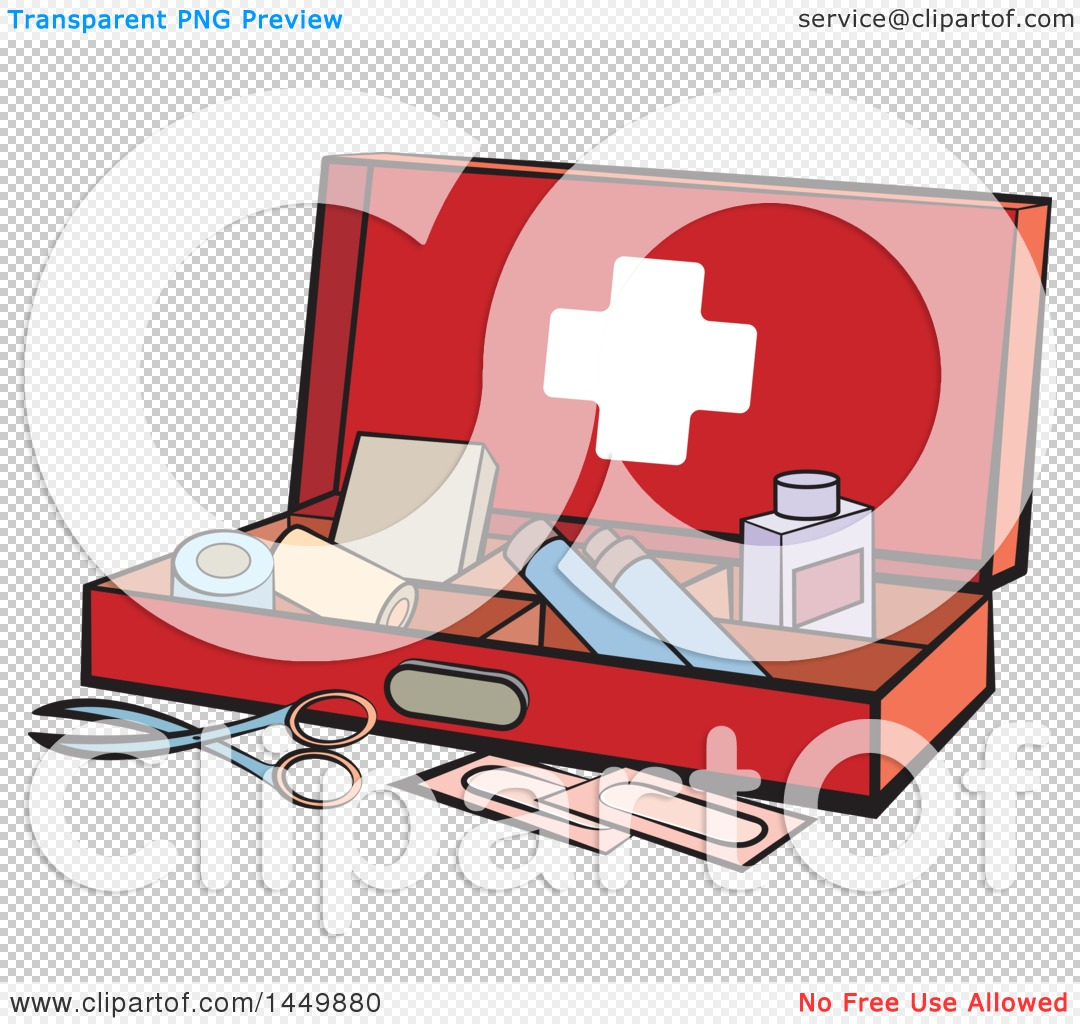 Clipart Graphic of a First Aid Kit - Royalty Free Vector ...