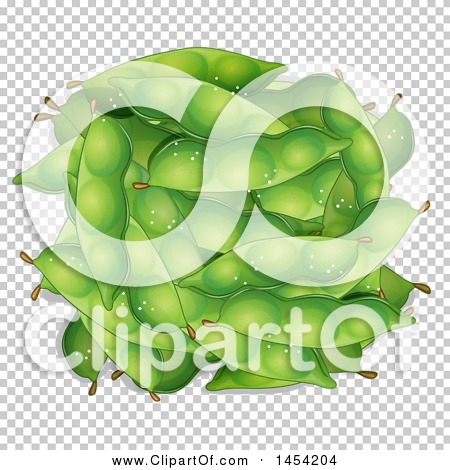 Clipart Graphic of Green Snow Peas - Royalty Free Vector ...