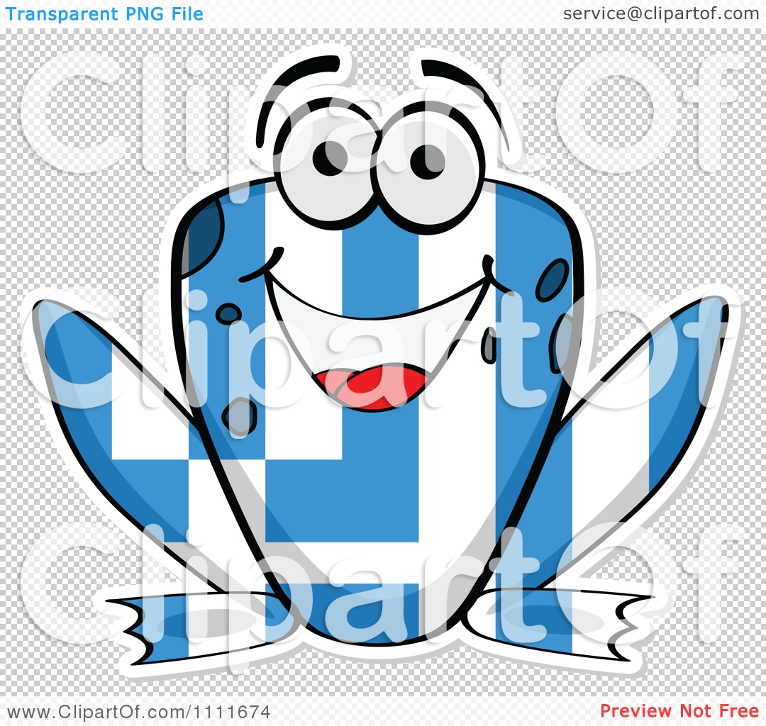 clipart greek flag frog royalty free vector illustration by
