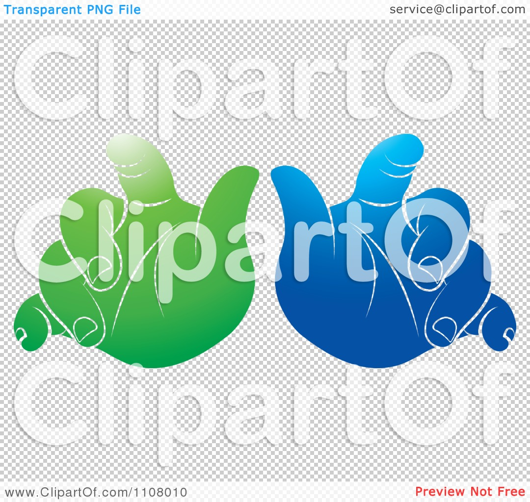 Clipart Green And Blue Baby Hands - Royalty Free Vector ...
