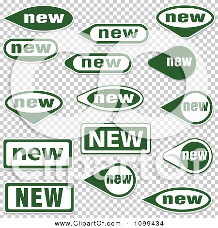 Clipart Green And White New Icon Labels - Royalty Free Vector ...
