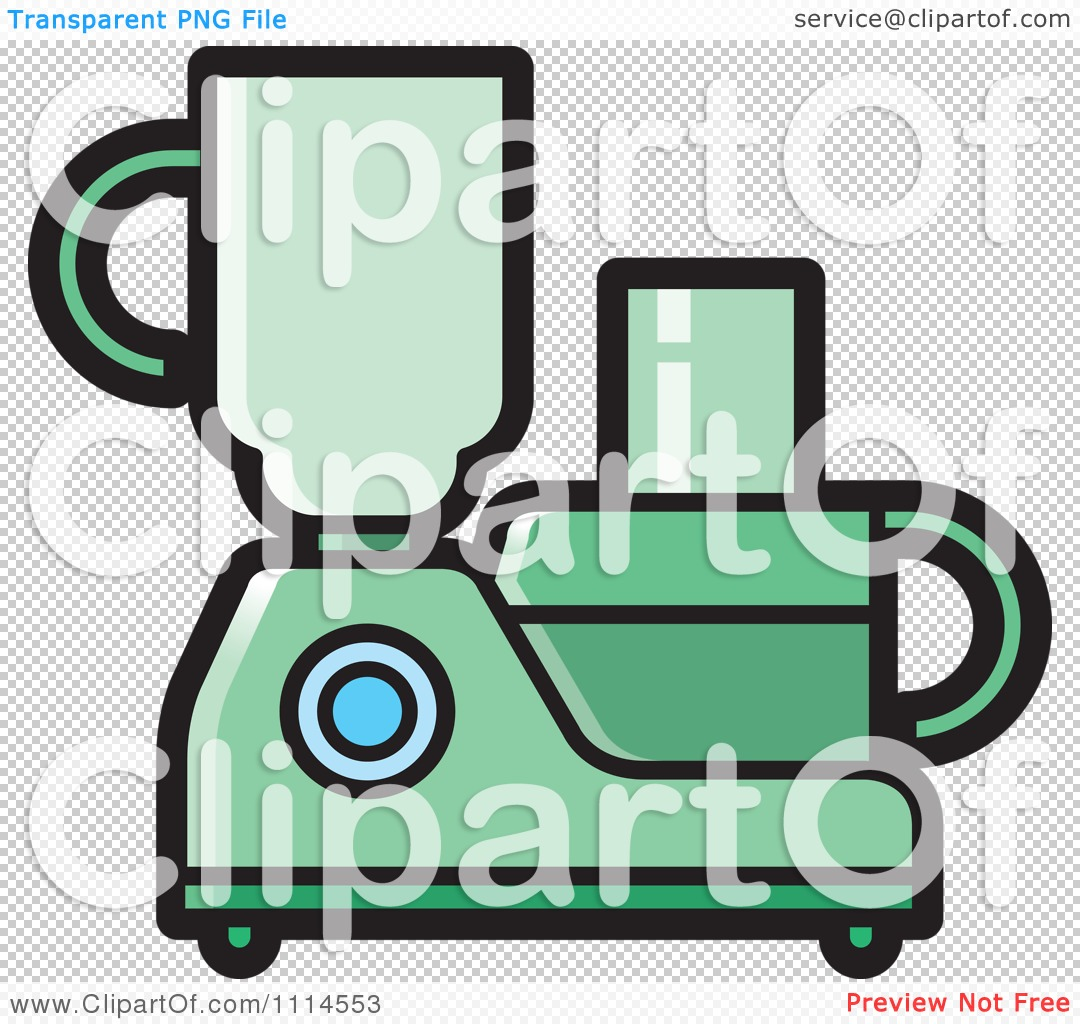 Cartoon Food Processor ~ Clipart green kitchen food processor or blender royalty