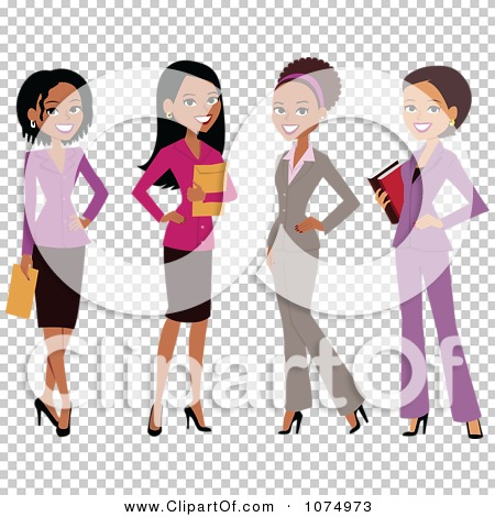 Clipart Group Of Professional Multi Ethnic Businesswomen - Royalty ...