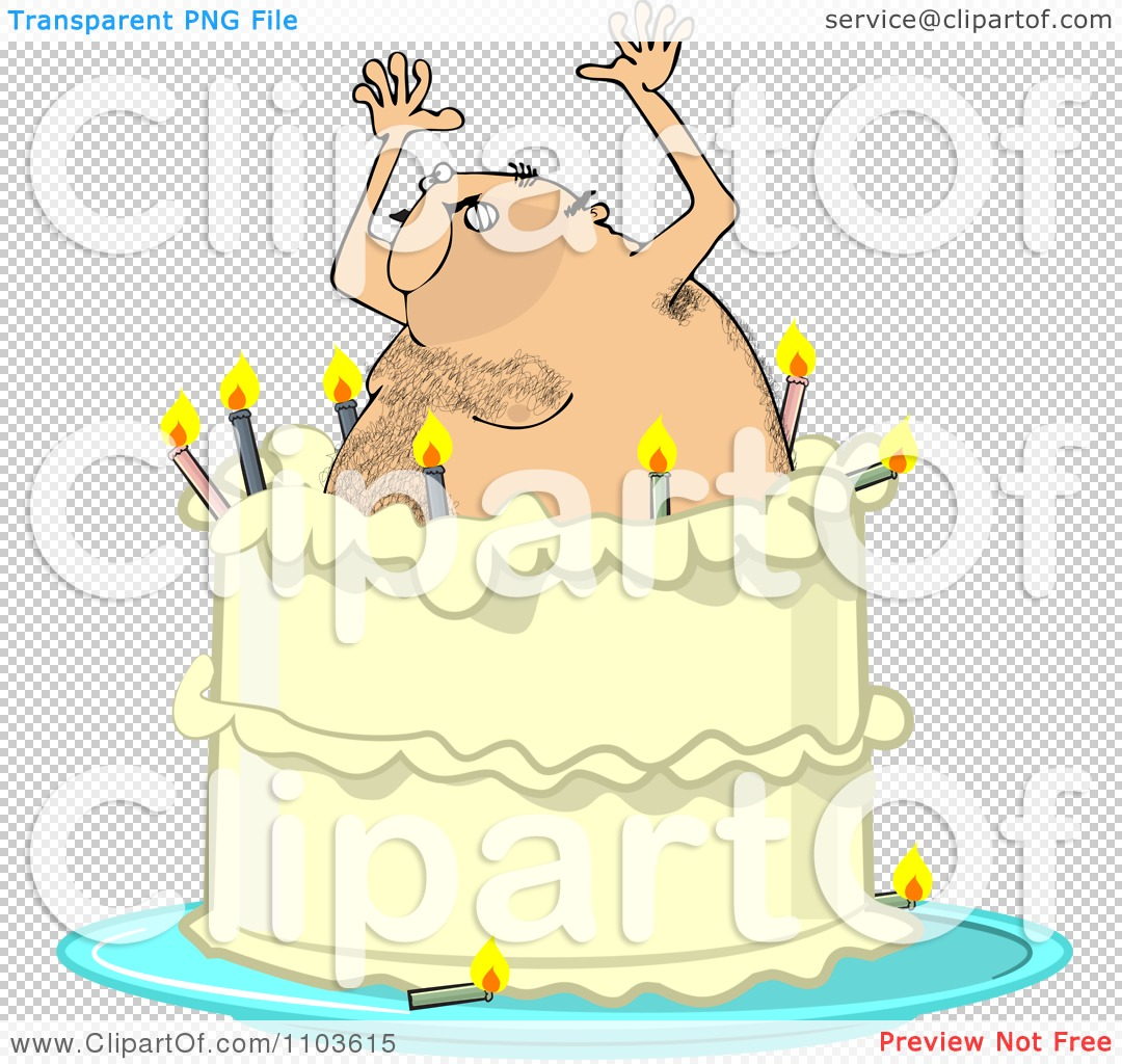 Woman Popping Out Of A Cake