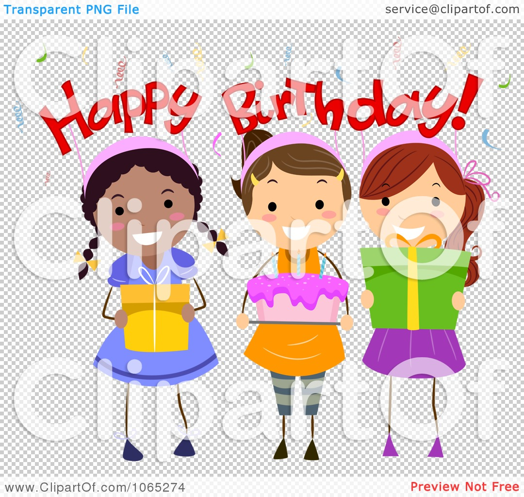 Birthday Cake And Presents Clipart
