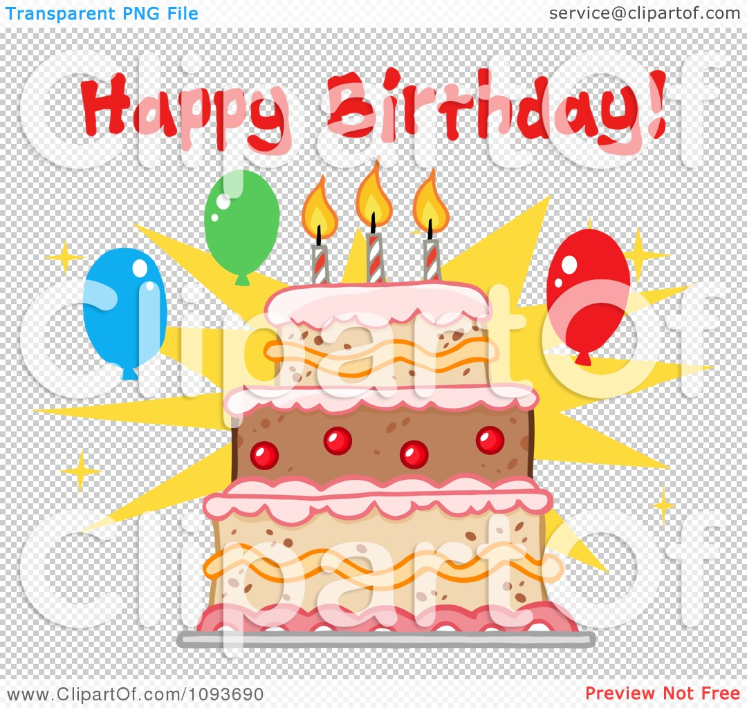 Happy Birthday Cake Public Domain Clip Art Image Wpclipart