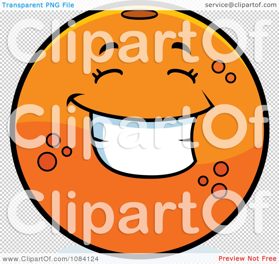 Clipart Happy Navel Orange Character - Royalty Free Vector ...