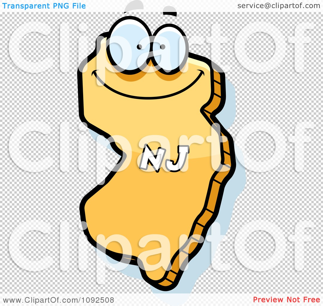 clipart happy yellow new jersey state character royalty free rh clipartof com New Jersey Vector new jersey state clipart
