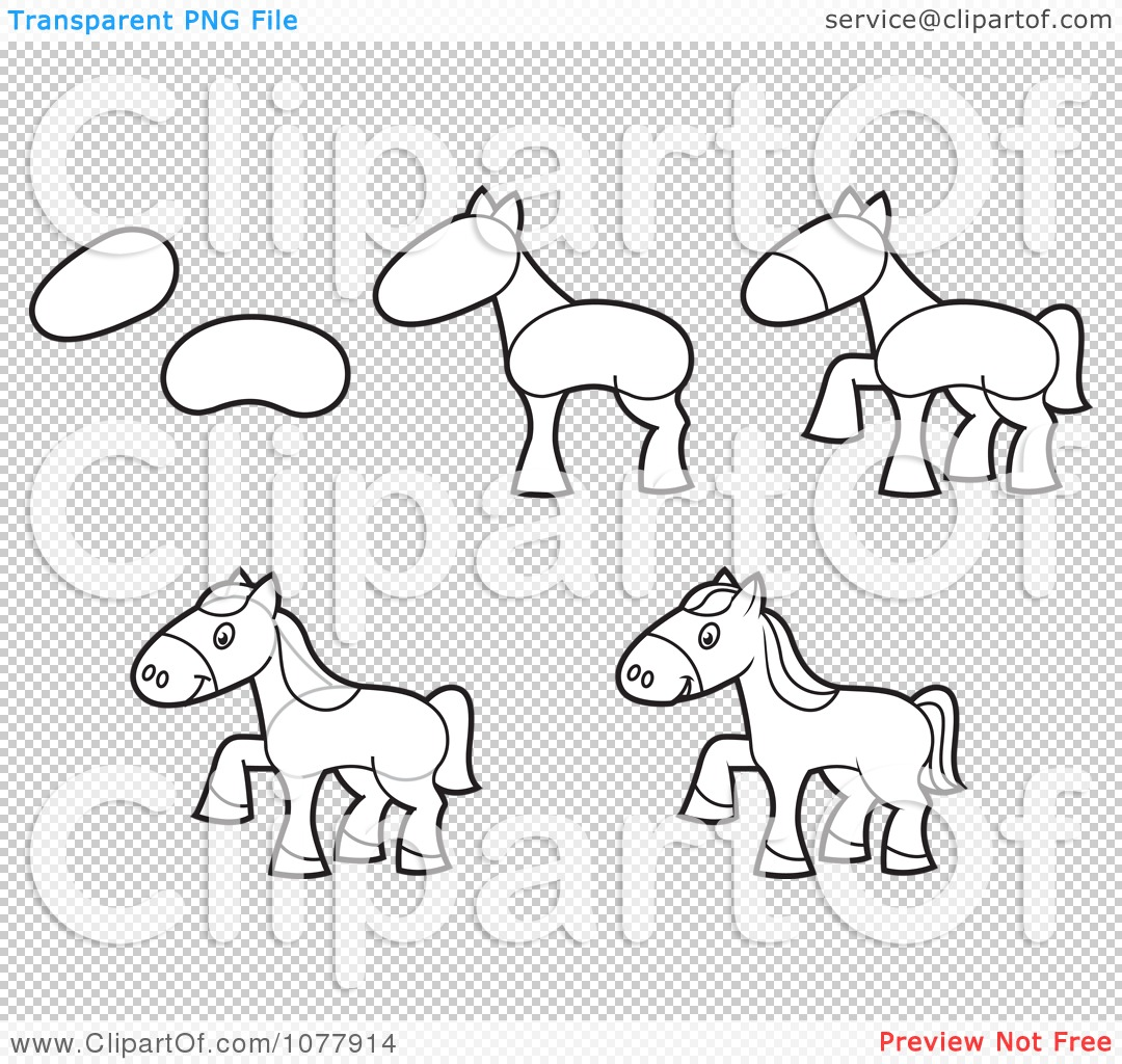 Png File Has A How To Draw A Simple Horse