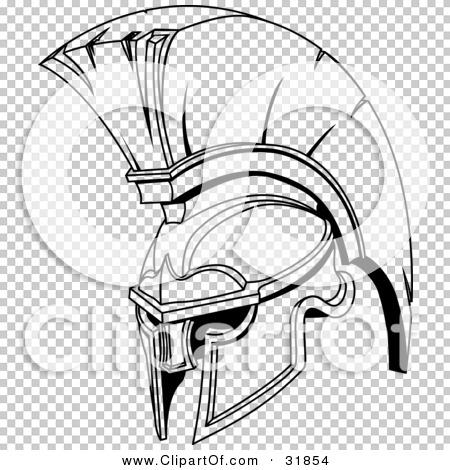 Spartan Helmet Transparent Spartan or Trojan Helmet