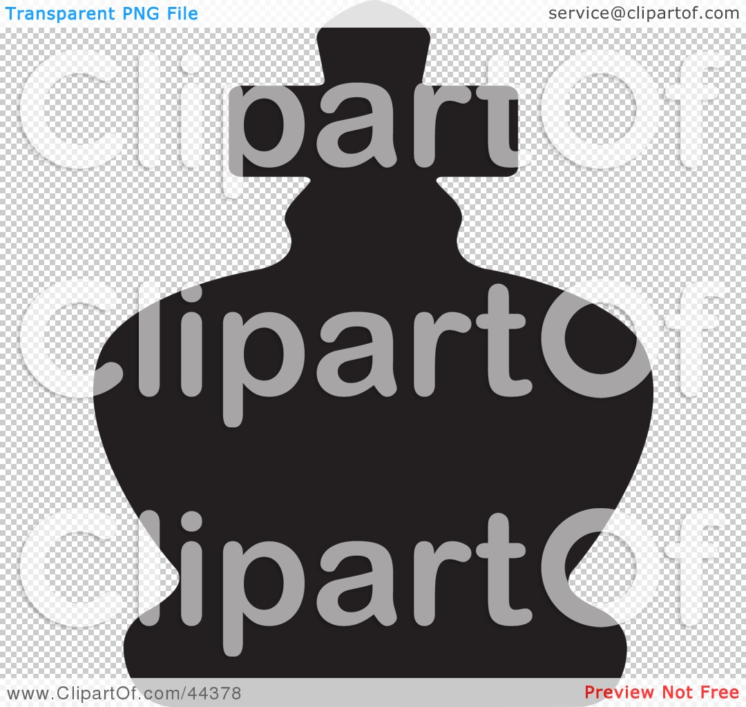 Clipart Illustration of a Black Silhouette Of A King Chess Piece ...