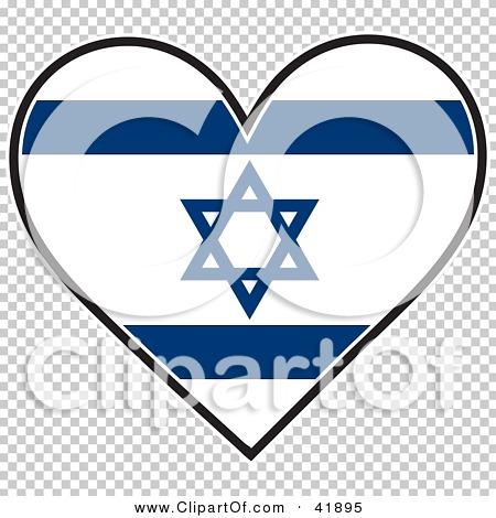 clipart illustration of a heart shaped israel flag with the star of rh clipartof com Canada Flag Clip Art Hook'em Horns Clip Art