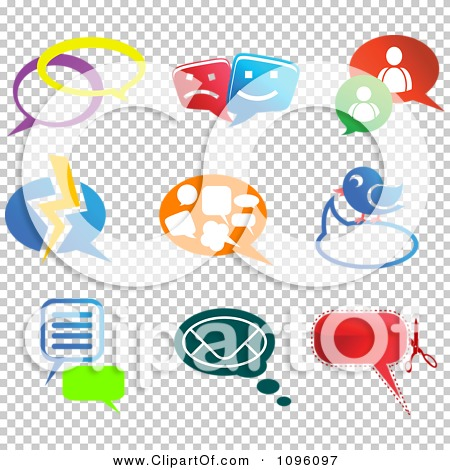 Clipart Instant Messenger And Social Network Chat Icons - Royalty Free  Vector Illustration by Vector Tradition SM #1096097